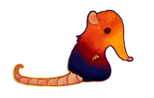 Elephant shrew by cappydarn