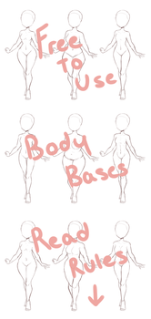 Female body bases by SleepyGrim