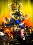 GOKU VS VEGETA by adapaasderel