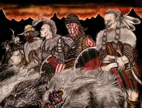 Waiting for the night attack (orcs and wargs) by TarGrond