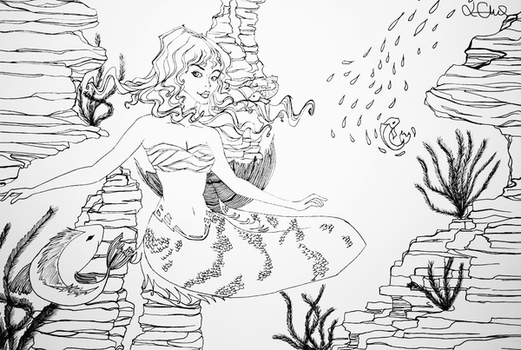 WIP - The beauty under the sea by abermals-art