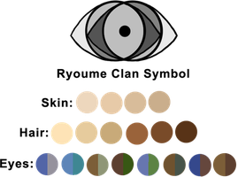 Ryoume Clan Colour Palette by mistressmaxwell