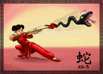 Year Of The Snake - Rope Dart by FavouriteCrayon