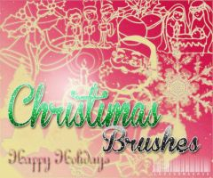Christmas Brushes O1 by LexiVonEerie