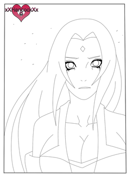 LINEART COURAGE Tsunade by xXHancockXx