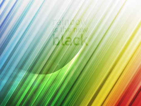 rainbow is the new black Walls by twinware