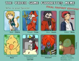 Video Game Favorites Meme - FF by chubby-choco