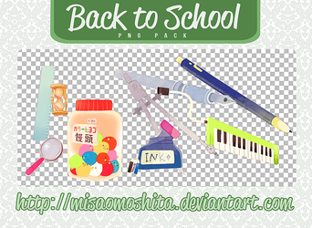 Back to School - PNG PACK by MisaoMoshita