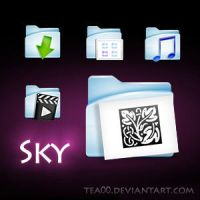 sky folder icons by tea00