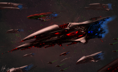 Lemurian Supercarrier by PeterPrime