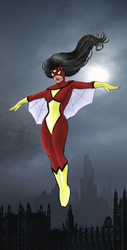 The Dark Angel Spider Woman by markdominic