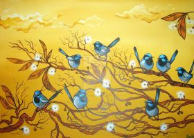 Vale of the Fairy Wrens by BettinaMarson