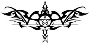 Tribal Pentacle by ShadowedLight