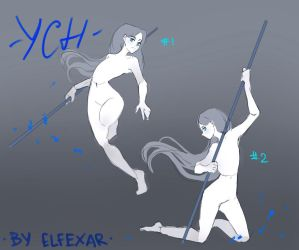 [close] YCH Auction: with weapon 4-5 by elfexar