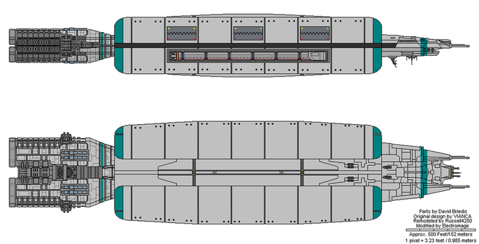 Mustang class Fleet Support Ship by The-Electromage