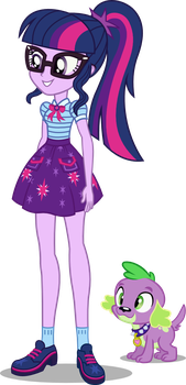 Twilight Sparkle and Spike - EQG Shorts by seahawk270