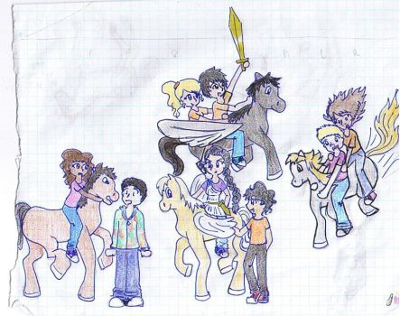 the horses of Percy Jackson by PJObsessed