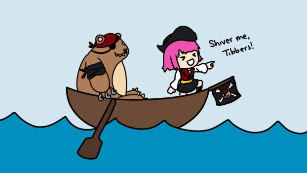Pirate Annie and Tibbers Chibis by iMagicalCookie