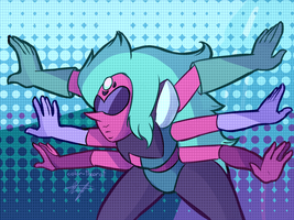 (SPOILERS!) Alexandrite Fight - In Too Deep (SU) by color-theorist
