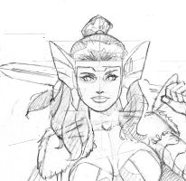 SIF  sketch for SDCC 2017 by aethibert