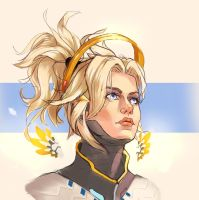 Mercy headshot! Overwatch by amziss