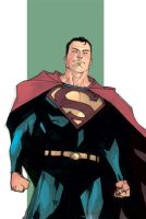 Superman Sketch 2 - Colored by rafaelalbuquerqueart