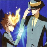 Tsuna With Adult Reborn by JasonArtNaruto