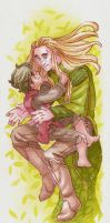 Youngling [Thranduil and Young Bard] by ProfDrLachfinger