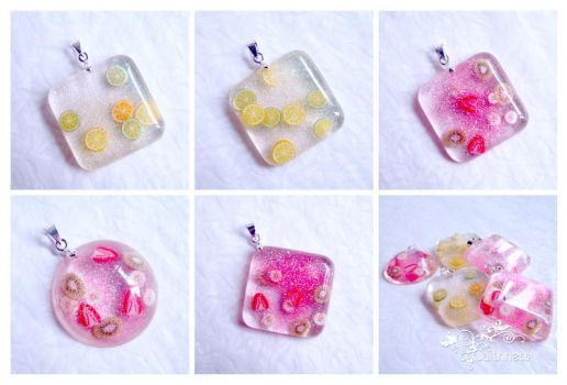 Fruit salad mix pendants by caithness-shop