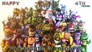 {SFMFNAF} Happy 4TH years FNaF!! (Late) by MemeEver