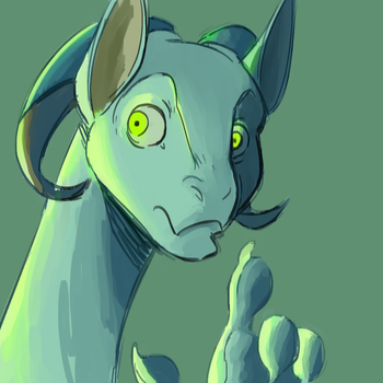 Daily Doodle: Green DRGN by CountDraggula