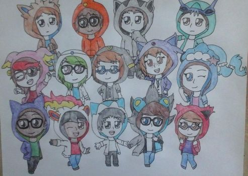 Chibis Group Picture by Pachigirl1