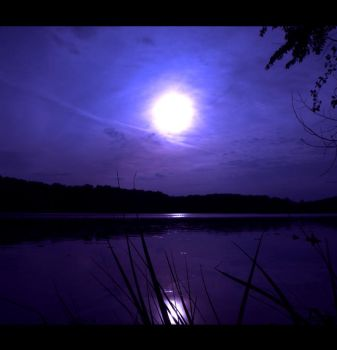 Full Moon, Midnight by LAPoetry-n-Photo