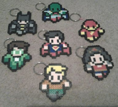 Perler beads ::Justice League:: by munch1111