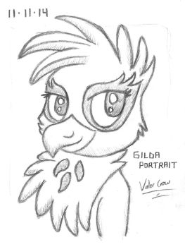 2014-11-11-Gilda Griffon Portrait by Valorcrow