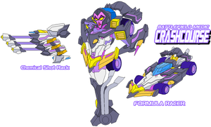 Decepticon Crashcourse Formula Racer by Tyrranux
