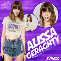 PNG PACK #3 - Female Model (Alissa Geraghty) by rudimentarily