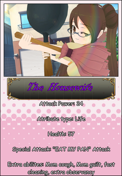 Character Cards: The Housewife by SaraleiNighthaven