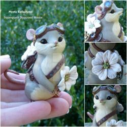 Dogwood Steampunk Mouse Sculpture. by MysticReflections