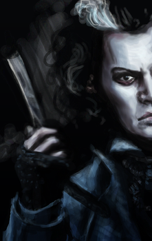 Sweeney Todd / digital painting by inicka