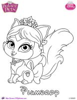Plumdrop Princess Palace Pet Coloring Page by SKGaleana