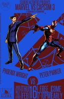 Marvel Vs Capcom 3 Postr Phoenix Wright Spider-Man by Mathematic-Hack