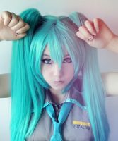 Hatsune Miku cosplay by me (VOCALOID) by kawaiilullaby