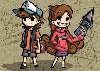 Wind Waker Style Dipper and Mabel by The-Bradshacalypse