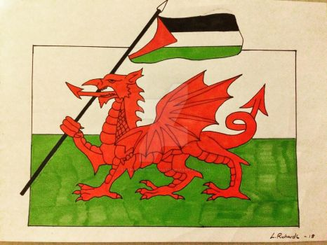 Wales stands with Palestine by TheReverendPlissken