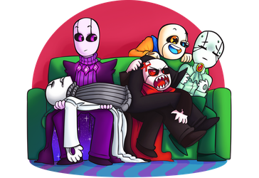 Draw the Squad, Gasters by BlitzingBullet