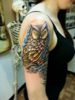 owl and limb by Sykboi