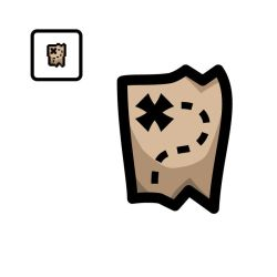 Vectorized Isaac #59: Treasure Map by giftedscholar