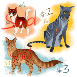 Warrior Cat Adoptables #2 [1 LEFT] by Copperlight