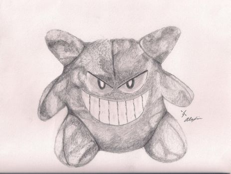 Day #1 Gengar by Redkitsune15